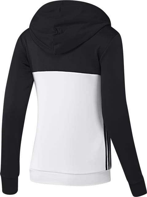 ADIDAS biało czarna bluza damska z kapturem climalite S